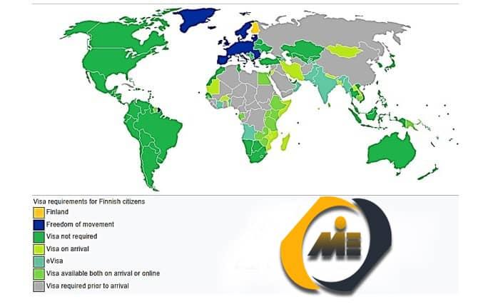 آزادی سفر برای دارندگان پاسپورت فنلاند