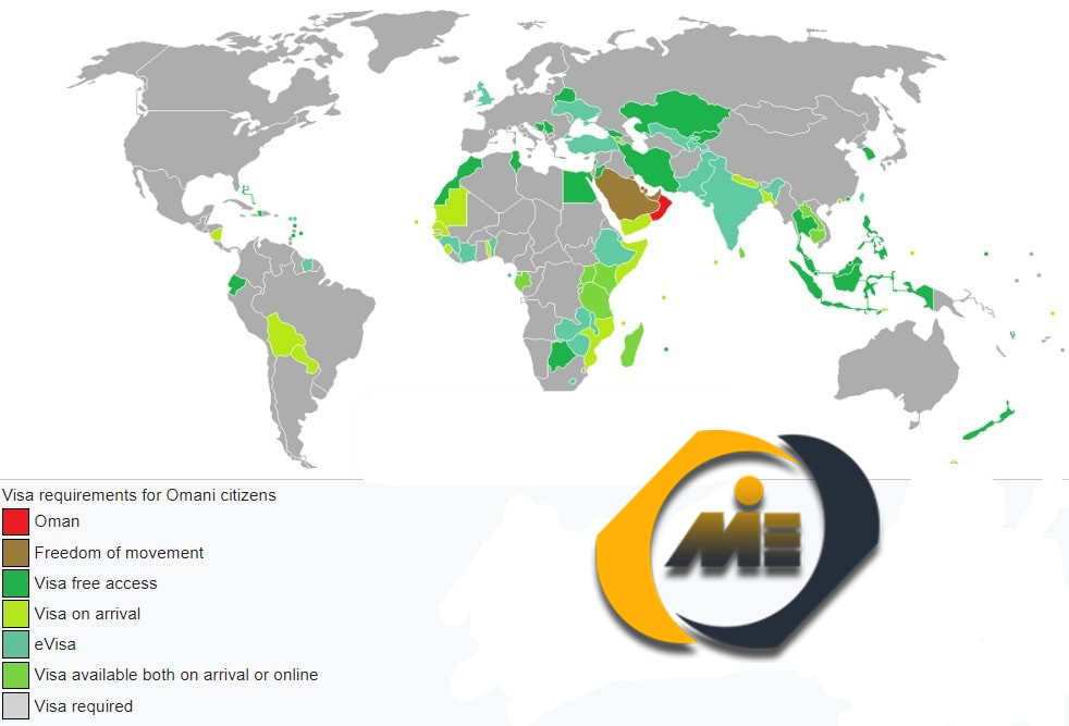 میزان آزادی سفر برای شهروندان و اتباع خارجی عمان